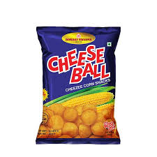 Bombay Sweets Cheese Ball Cheezee Corn Snacks 20 gm