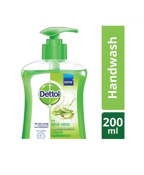 Dettol Handwash Aloe Vera Liquid Soap Pump-200ml